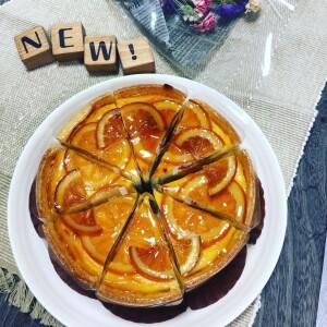 オレンジのベイクドチーズケーキ